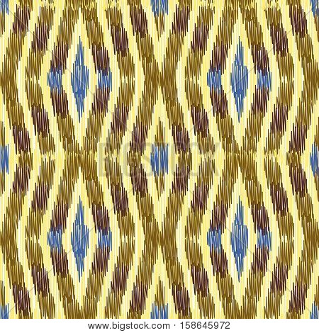 Seamless Ikat Pattern. Abstract background for textile design wallpaper surface textures wrapping paper.