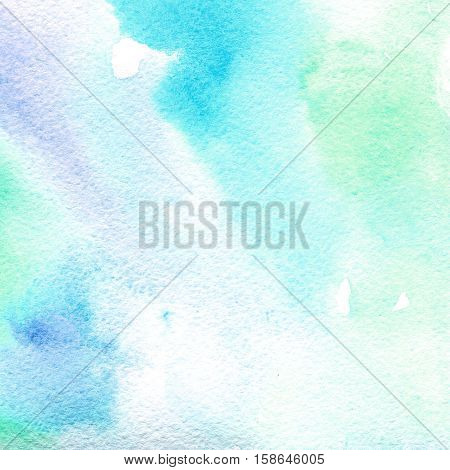 watercolor texture transparent light blue. watercolor abstract background, spot, blur, fill