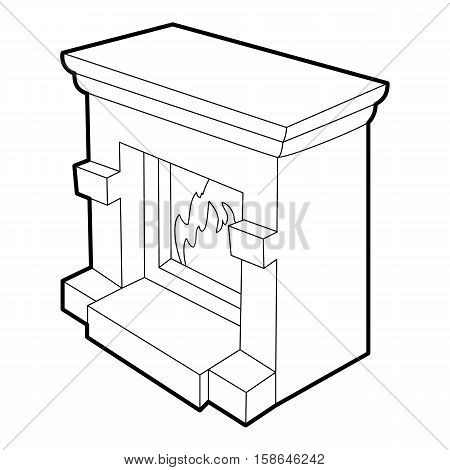 Fireplace icon. Isometric 3d illustration of fireplace vector icon for web
