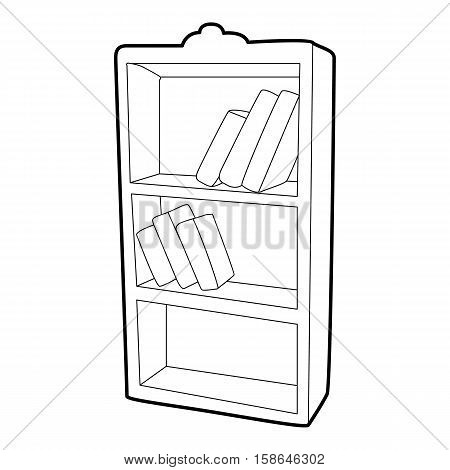 Bookcase icon. Isometric 3d illustration of bookcase vector icon for web