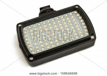 Rectangular LED Flashlight isolated on white background