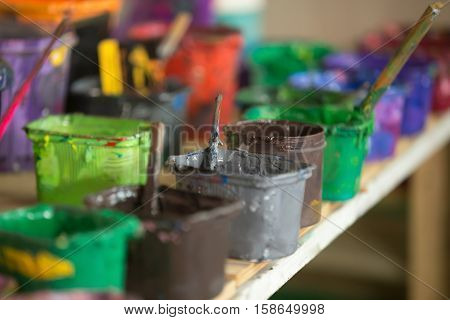 Close-up Of Silk Screen Printing Ink
