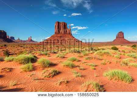 Desert in Monument Valley, Arizona - Utah, USA.