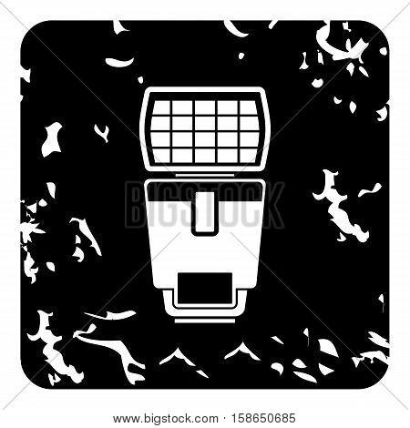 Lighting flash icon. Grunge illustration of lighting flash vector icon for web design