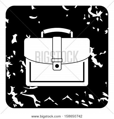 Business suitcase icon. Grunge illustration of business suitcase vector icon for web design
