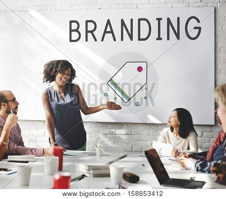 Branding Trademark Marketing Research Advertising Tag Concept