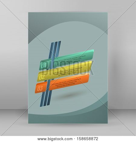 Design elements business presentation template. Vector illustration vertical web banners background backdrop glow light effect . EPS 10 for web buttons template web site page presentation