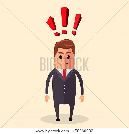 Vector businessman thinks on solving complex problems, Businessman standing of a maze with a solution
