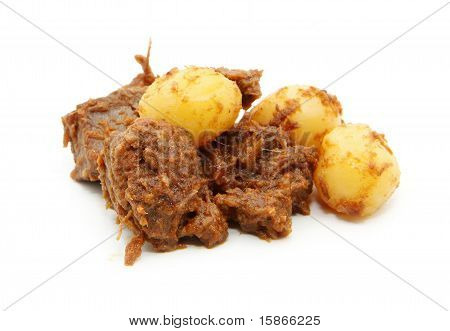 beef curry and potato