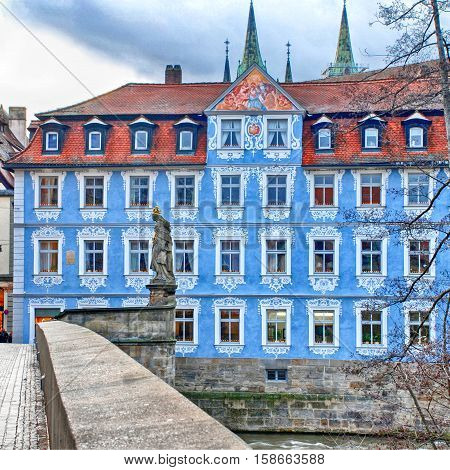 The Old Town of Bamberg(Germany) is listed as a UNESCO World Heritage. Square image