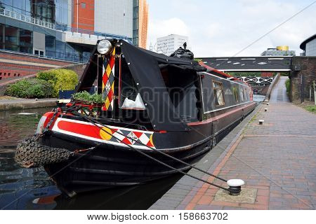 One boat on the Birmingham old canal