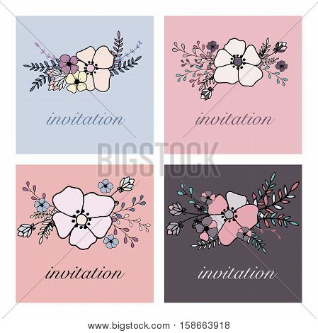 vector flower frame for you cards and logo and invitation