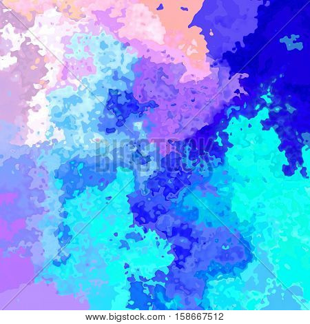 abstract stained pattern texture background - neon pastel full color spectrum rainbow - blue turquoise pink purple violet