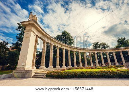 Vienna, Austria, October 13, 2016: War Memorial -  Heroes Monument Of Red Army On Schwarzenbergplatz