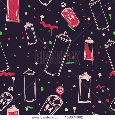 Original youth seamless patterns, repeating image pattern on any items, T-shirts, wallpaper, curtains. The trend bright color palette
