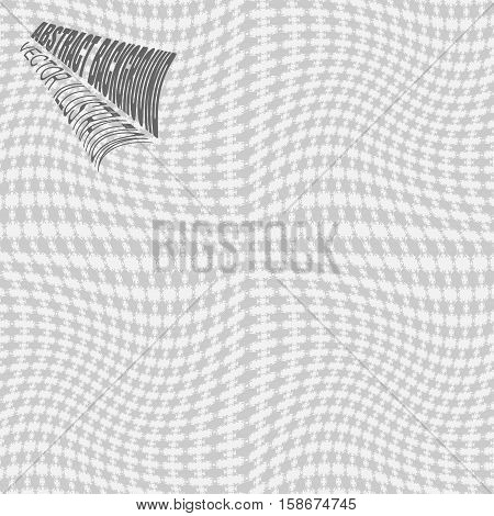 Vector abstract gradient background with gray distorted hexagon pattern.