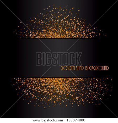 Golden sand abstract background. Decorative pattern design. Vector illustration.