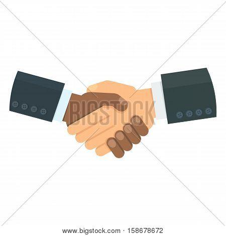 White And Black Handshake