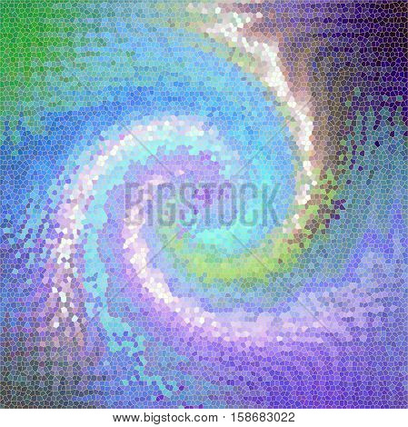 Abstract background of the abstract gradient with visual lighting,twirl,pinch,spherize and stained glass effects,good for your project design