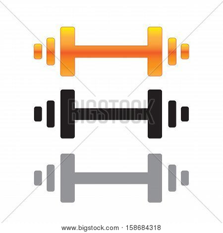 Barbell Icon Set  Design AI 10 Supported.