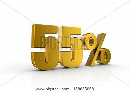 3d illustration 55%