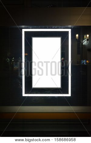 Vertical Portrait Window Advertisment Isolated White Clipping Path