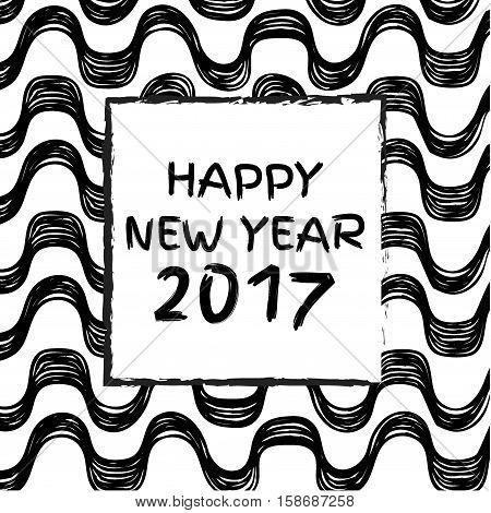 Ipanema beach pattern. Vector illustration. Brasil style pattern. Brazil 2017. Happy new year.
