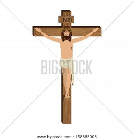 The Crucifixion of Jesus Christ vector illustration