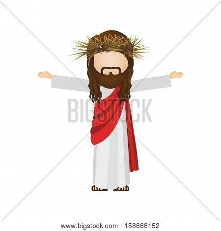 avatar religious design of jesus christ vector illustration