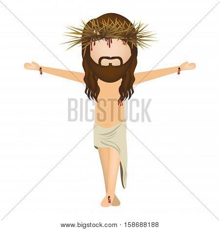 avatar jesus christ with cro vector illustration