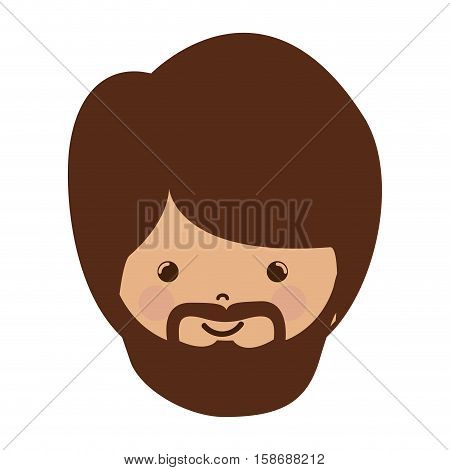 avatar face of jesus christ vector illustration