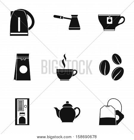 Beverage icons set. Simple illustration of 9 beverage vector icons for web