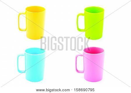 pastel coffee glass isolated on white background .