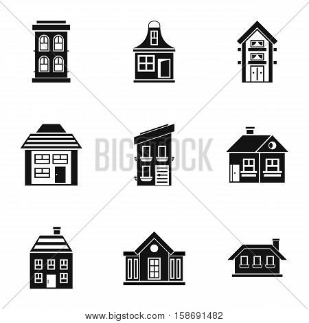 Dwelling icons set. Simple illustration of 9 dwelling vector icons for web