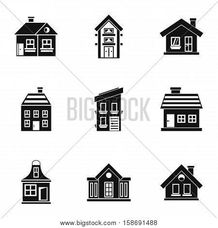 Habitation icons set. Simple illustration of 9 habitation vector icons for web