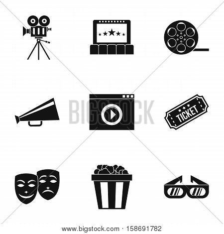 Cinematography icons set. Simple illustration of 9 cinematography vector icons for web
