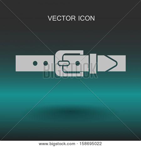 belt buckle vector illustration