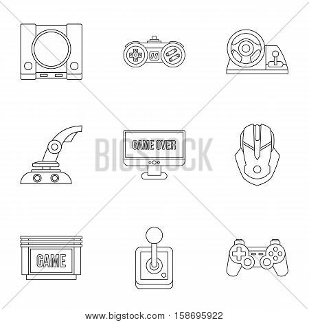 Fantasy games icons set. Outline illustration of 9 fantasy games vector icons for web
