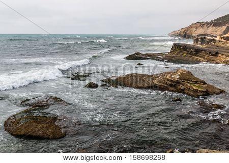Point Loma tidepools in San Diego, California.