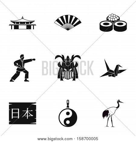 Holiday in Japan icons set. Simple illustration of 9 holiday in Japan vector icons for web