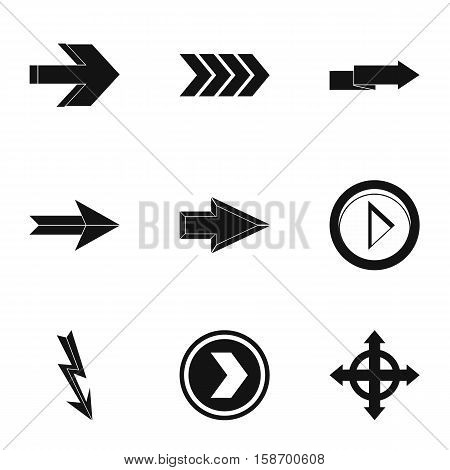 Pointer icons set. Simple illustration of 9 pointer vector icons for web