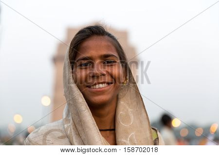 Indian gypsy girl, New Delhi, India