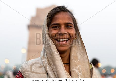 Indian gypsy girl, New Delhi, India