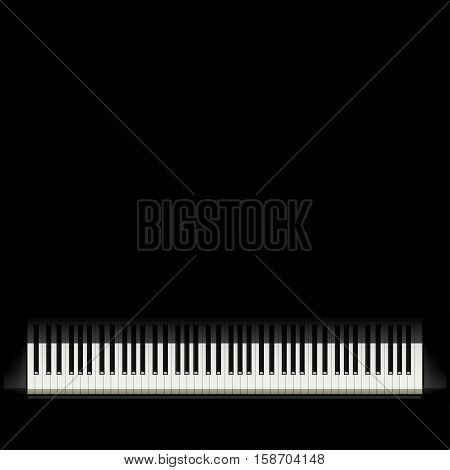 illustration of piano buttons on black background