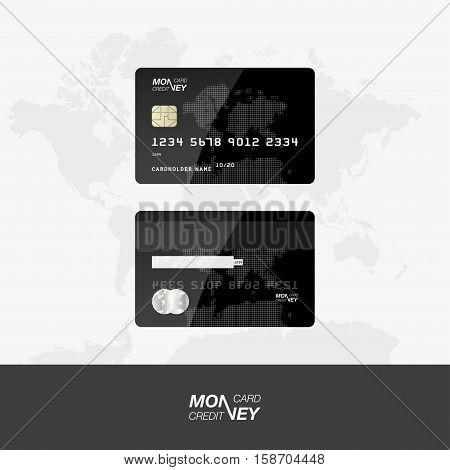 Credit Card Vector Illustration.