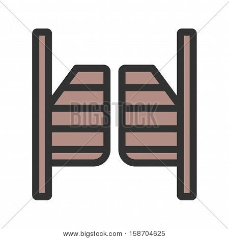 Wild, west, doors icon vector image. Can also be used for wild west. Suitable for mobile apps, web apps and print media.