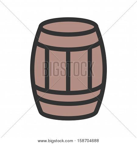 West, beer, barrel icon vector image. Can also be used for wild west. Suitable for mobile apps, web apps and print media.