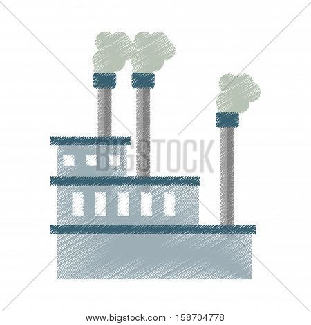 manufactory industry producing gas ed vector illustration eps 10