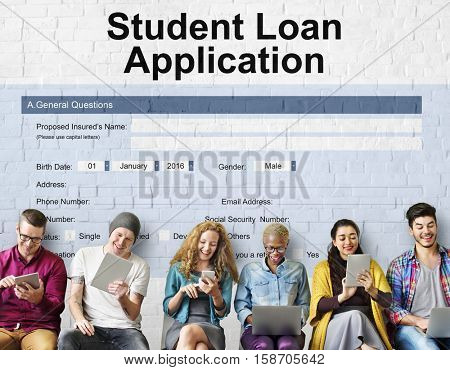 Student Loan Application Form Registration Concept