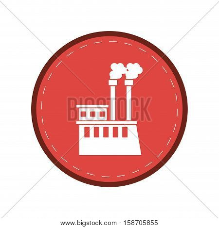 manufactory industry producing gas pink circle vector illustration eps 10